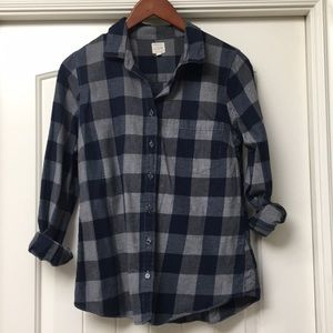 J Crew Perfect Shirt Flannel Button Down